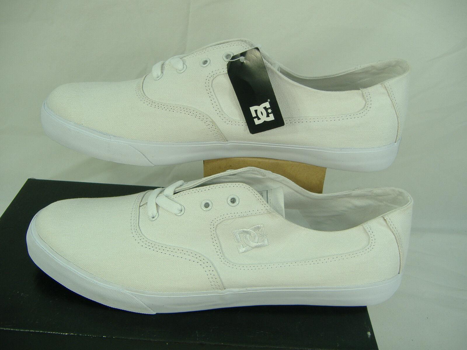 "New Mens 14 DC "" Flash TX "" White Textile Skate Boat Shoes"