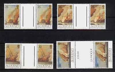 13758/ Alderney 1992 - Mi 55/8 - Seeschlacht - ** Fein Verarbeitet
