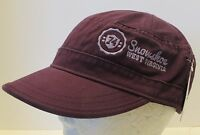 Snowshoe West Virginia Hat Cap Cadet Military Flat Top Style Usa Embroidery