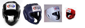 NEW-Fairtex-Full-Face-Headgear-HG3-Black-Blue-White-Red-Muay-Thai-Kickboxing