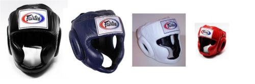 NEW Fairtex Full Face Headgear Muay Thai Kickboxing HG3 Black Blue White Red