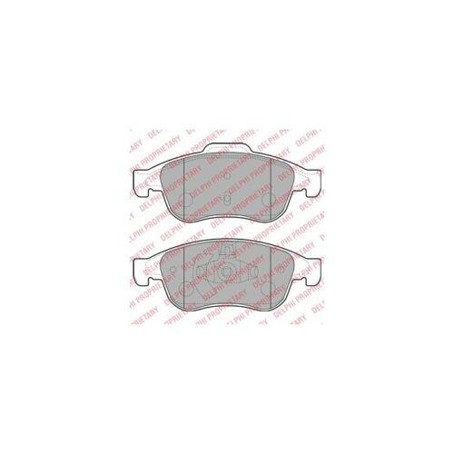 DELPHI Bremsbelagsatz Scheibenbremse   für Renault Megane III Coupe Fluence
