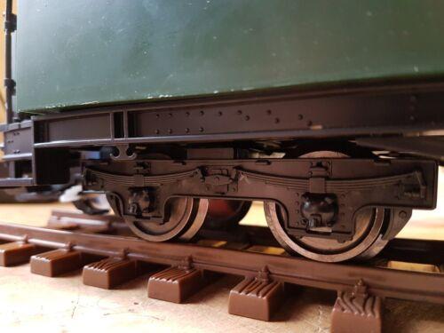 Um Par Escala G 45mm Medidor De Carruagem bogies /& Metal Wheels//eixos Jardim Railway