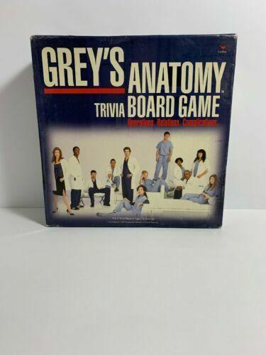 Cardinal Grey S Anatomy Trivia Card Board Game 2007 Gm782 For Sale Online Ebay