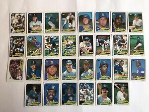 1989-SEATTLE-MARINERS-Topps-COMPLETE-Baseball-Team-SET-30-Cards-BUHNER-LANGSTON