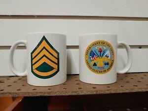 FREE NAME//MOS US ARMY SSG STAFF SERGEANT 11 oz Coffee Mug Two sided