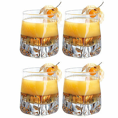 Set of 4 33cl Tumblers Bar Drinks Party Drinking Glasses Cocktail Vodka Whisky