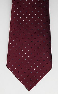 Maroon tie St Michaels vintage 1970s Polka Dot washable made in the UK M&S