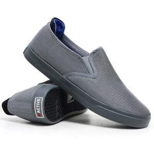 Mens-Slip-On-Casual-Canvas-Espadrilles-Deck-Plimsolls-Trainers-Pumps-Shoe-Size