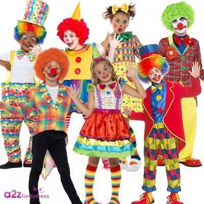 Costume Da Clown Ragazzi Ragazze Bambino Circo Carnevale Comic Relief Costume Vestito-mostra Il Titolo Originale