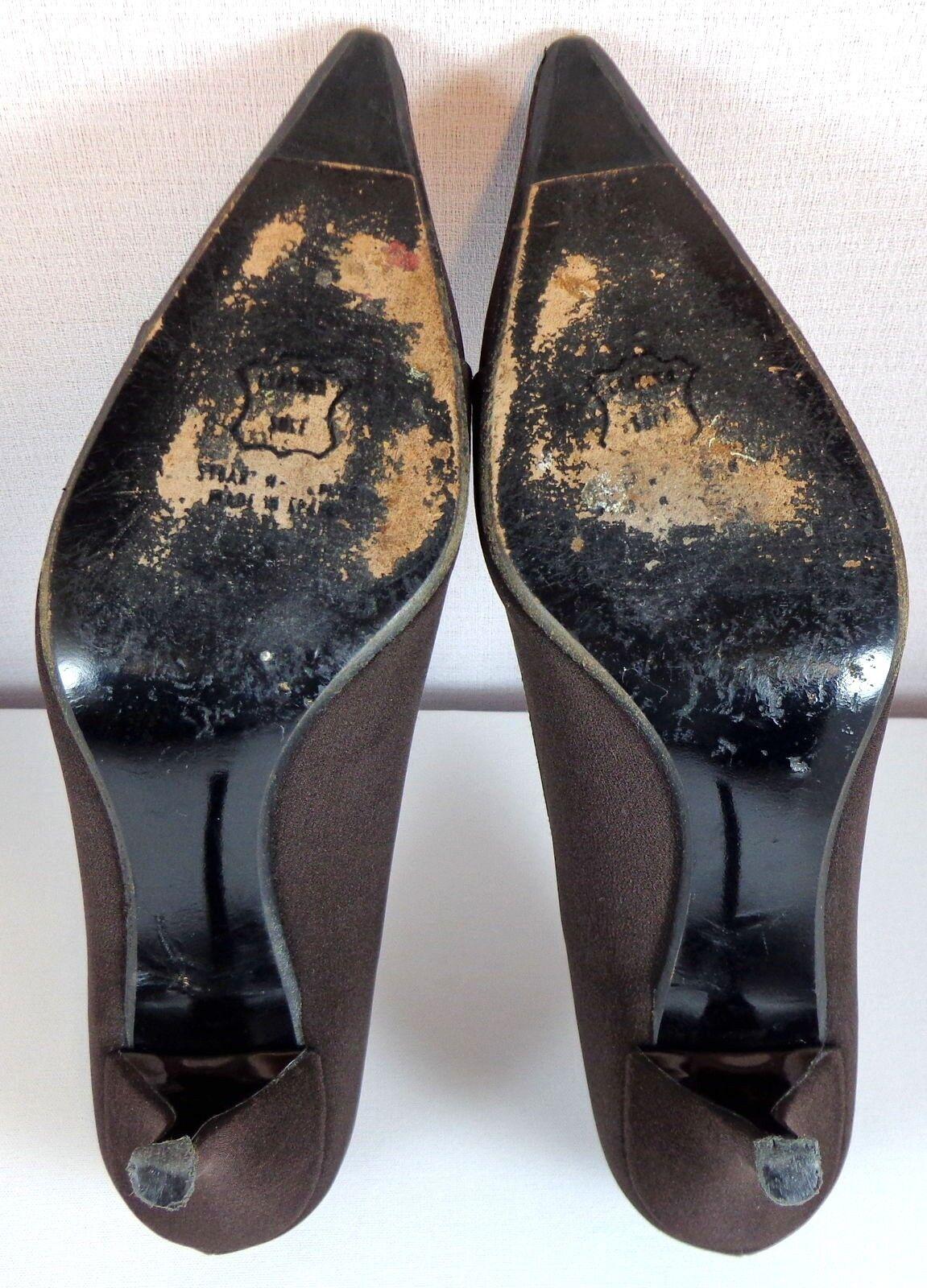 Stuart 7.5 Weitzman Damenschuhe Braun Pumps 7.5 Stuart M Schuhes Jeweled Round Embellishment d03046