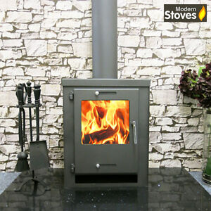 Image Is Loading Cube 9kw Wood Burning Multi Fuel Burner