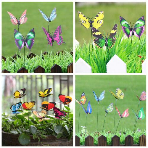 24x Garten Terrasse  Schmetterling Topf Pflanze Blumen Haus Dekoration Weihnacht