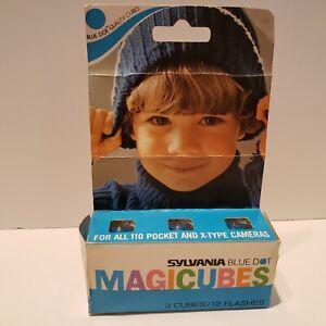 Sylvania Blue Dot Magicubes 3 Cubes 12 Flashes New Open Box