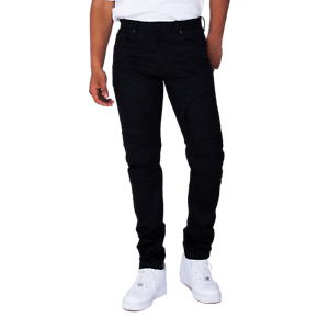 Smoke Rise Black Fashion Jeans w// Embossing