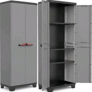 Kis stilo armadio da esterno resina tuttopiani basic 2 ante 3 piani 68x39x173h ebay - Armadi da esterno in resina ...