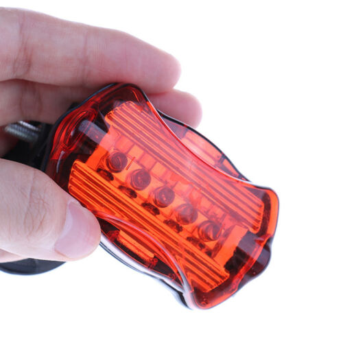 super bright bicycle lights led rear tail lamp safety warning cycling PVCA