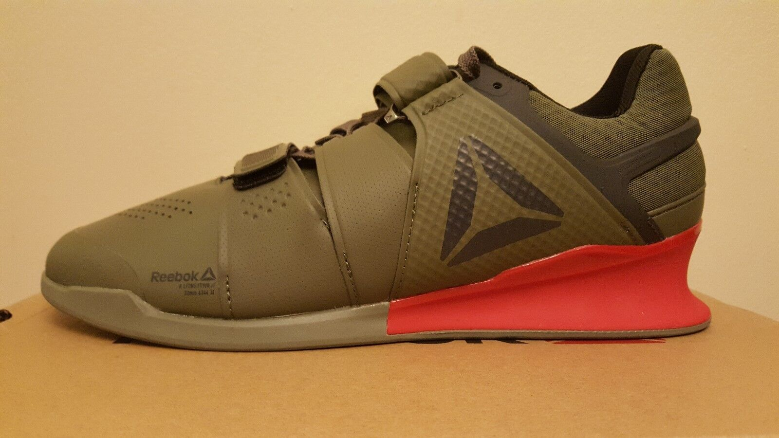 Para hombres zapatos Reebok legado Levantador de halterofilia verde (BS8216)