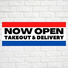 Now Open Takeout Amp Delivery Advertising Vinyl Banner Flag Sign Many Sizes Usa