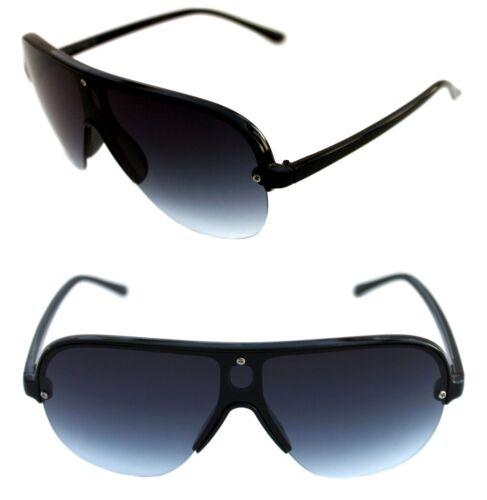 Men/'s Hip Hop Shield Stunna Shades Aviator Vintage Retro 80/'s Swag Sunglasses
