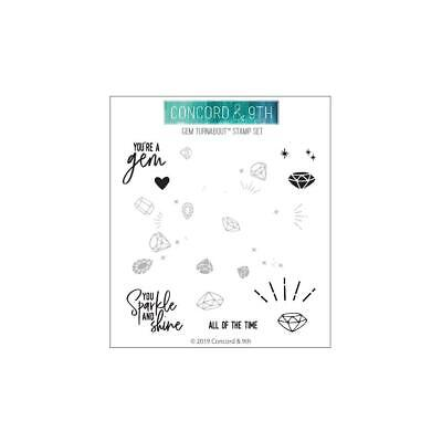 """NEW Concord /& 9th /""""Hugs /& Kisses Turnabout/"""" Clear Photopolymer Stamps"""