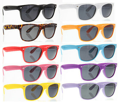 10 Pairs/Lot ASSORTED COLOR Retro Classic SUNGLASSES Wholesale Men Women Vintage