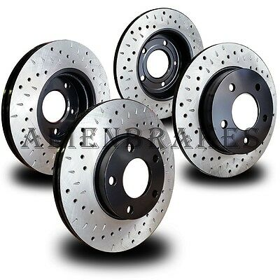FOR029S F150 6Lugs 12-17 Performance Brake Rotor Set Cross Drill Curve Slot