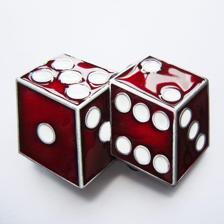 RED DICES Gürtelschnalle USA Buckle Wechselschnalle Rockabilly Casino US Car