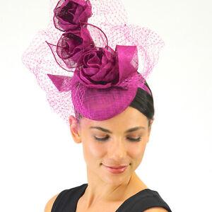 Details about Ladies JENDI Magenta Purple Formal Spring Racing Oaks Fascinator  Headband a0790bcbaa5