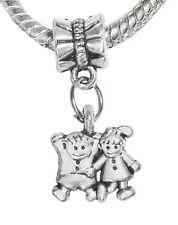 Little Boy Girl Son Daughter Kids Twins Dangle Charm for European Bead Bracelets