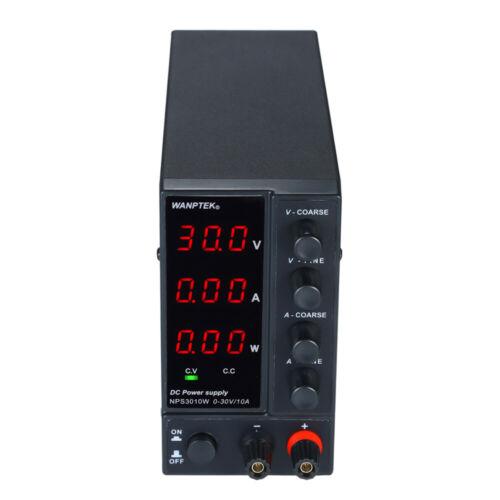WANPTEK Schaltnetzteil NPS3010W 0-30V 0-10A LED 3-Stelliges Mini Netzteil H7I8