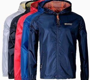 Geographical-Norway-Herren-Regen-Jacke-Outdoor-Windbreaker-Sport-uebergangsjacke