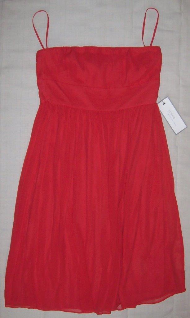 NEW w  Tags  J. CREW  100% SILK Sleeveless Party Dress size 12 w  FREE SHIP