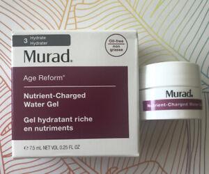Murad alter Reform Nährstoff-Charged Wasser Gel 7.5ml Reisegröße Brandneu in Box