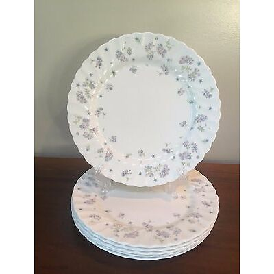 Wedgwood APRIL FLOWERS Bone China Dinner Plates ~ Set of 6
