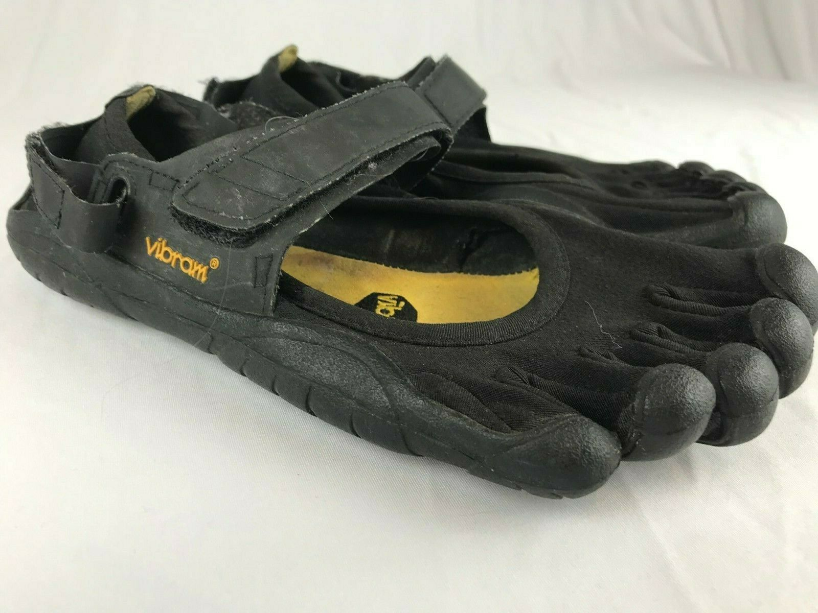 Vibram Five Fingers Running Zapatos. Negro. tamaño Velcro Top. W39.