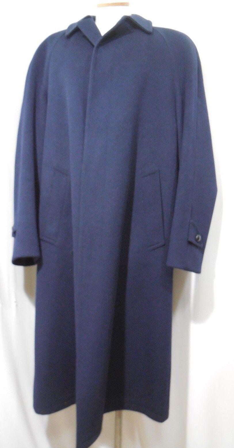 Men Salko Wool Loden Tirol Hidden Button Trench Coat Navy bluee 38 US 48 EU hu-de