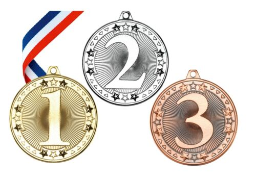 1st 2nd 3rd Medal Set of 3 or Single 1st Gold Medal FREE RIBBON AND FREE P/&P