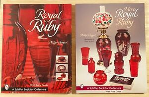 ROYAL-RUBY-amp-MORE-ROYAL-RUBY-2-Volumes-LIKE-NEW-Royal-Ruby-Glassware