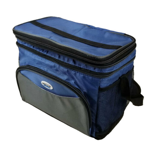 """3/"""" Expandable Thermal Travel Brentwood Lunch Box Bag 12can Cooler Size Insulated"""