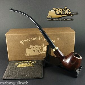 OUTSTANDING CHURCHWARDEN Mr.Brog smoking pipe nr. 114 CONSTANCE brown