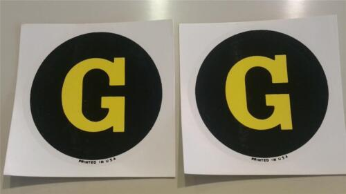 """John Deere Model G Tractor Replacement Circle//Round Decals Water Transfer 2.5/"""""""