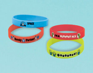 TOY-STORY-Rubber-Bracelets-Pack-of-4-Favours-Party-Bag-Filler-Birthday