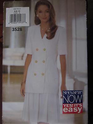 3173 UNCUT Vintage Butterick SEWING Pattern Misses Pullover Top Skirt Easy OOP