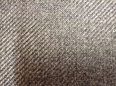Lerwick Dogtooth Silver Grey  Wool Type Curtain Upholstery//Curtain Fabric