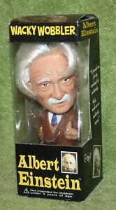 Funko-Retired-2003-ALBERT-EINSTEIN-Wacky-Wobbler-Bobblehead-With-Wild-Hair