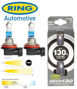 Ring - Xenon130 - 12v 55w H11 - 130% Brighter - Upgrades - PAIR - RW3311