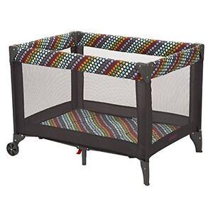 Cosco Funsport BABY PLAY YARD, Folding Roomy Baby PLAYPEN, Rainbow Dots