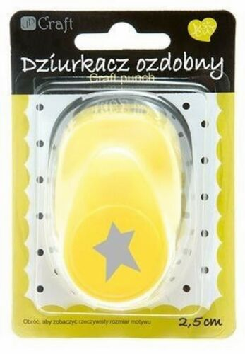 2,5 cm STAR 2 Card Making Embelishments Large Craft Punch 1/""