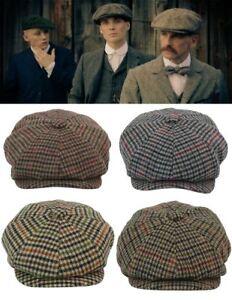 9ab0d529a1f1b Casquette homme béret tweed laine mélangée style Peaky Blinders ...